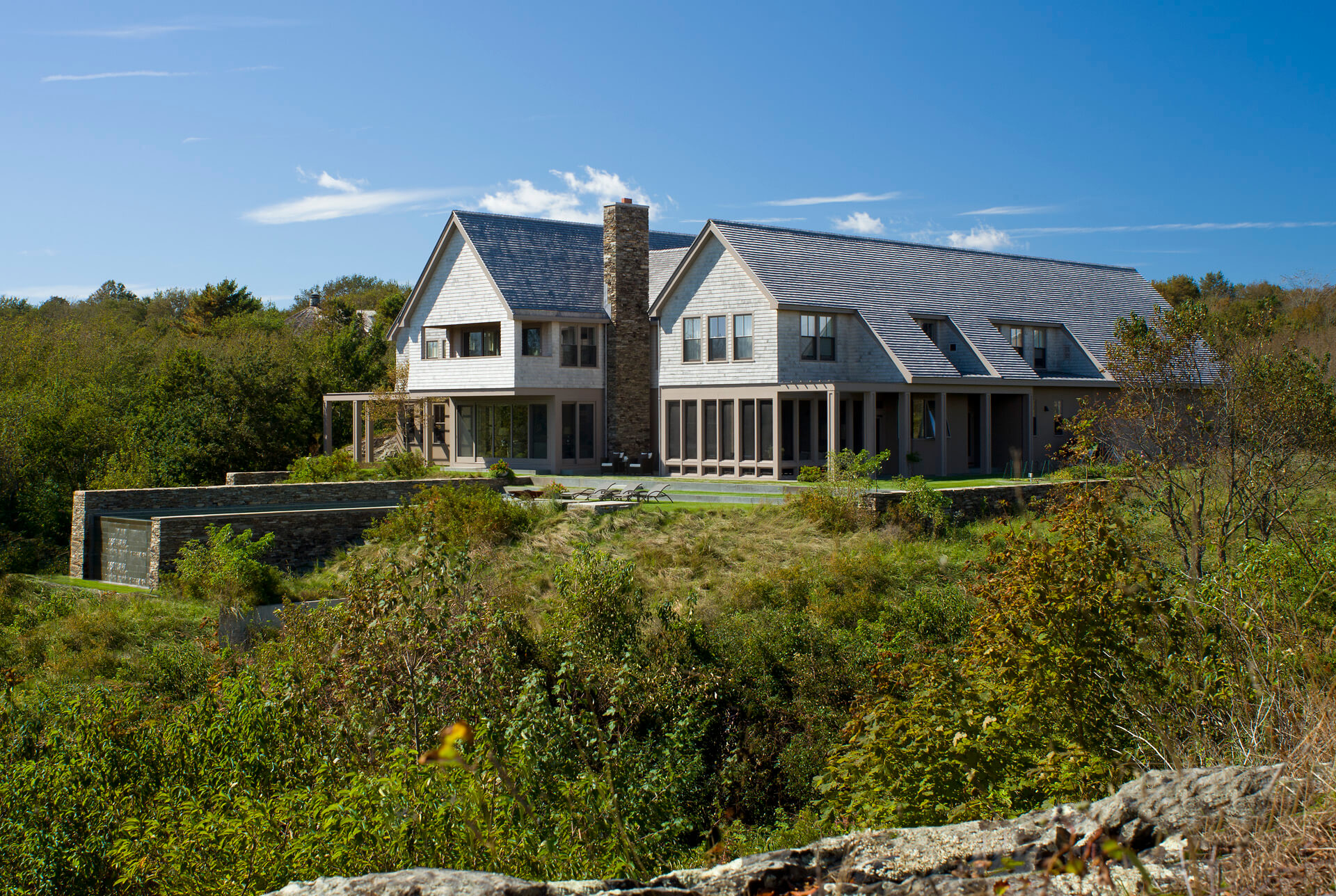 rhode island rock ledge traditional house